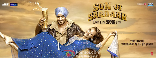 Ajay Devgn and Sonakshi Sinha from Son Of Sardaar Movie