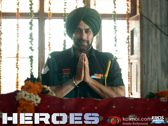 Salman Khan in a still from Heroes Movie