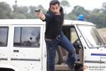 Salman Khan in an action scene from Dabangg 2 Movie Stills