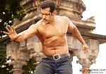 Salman Khan in his patent shirtless pose yet again in Dabangg 2 Movie Stills