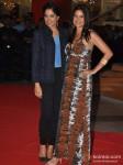 Sameera Reddy And Sushma Reddy At Skyfall Movie Premiere