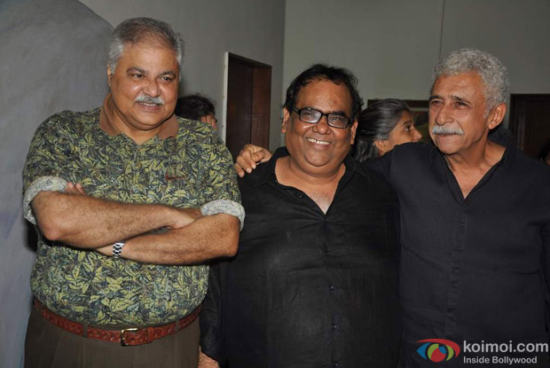 Satish Shah, Satish Kaushik And Naseeruddin Shah At Jaane Bhi Do Yaaro Movie Screening
