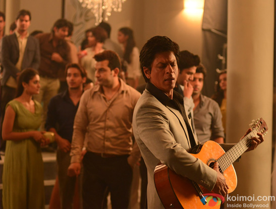 Shah Rukh Khan still from Lux ad