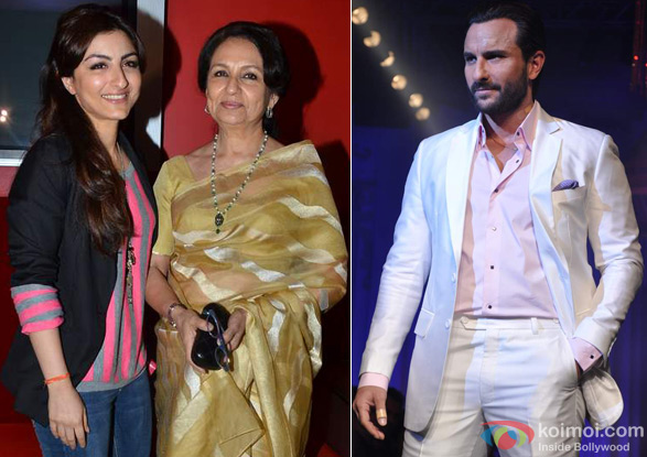 Soha Ali Khan, Sharmila Tagore and Saif Ali Khan