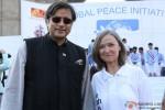 Shashi Tharoor and Kia Scherr at Global Peace Initiative Walkathon