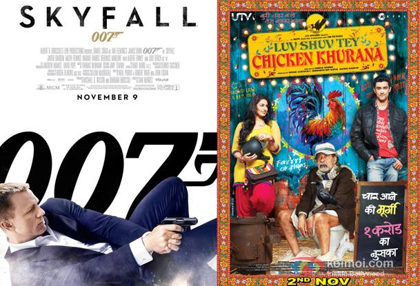 Skyfall and Luv Shuv Tey Chicken Khurana Movie Posters