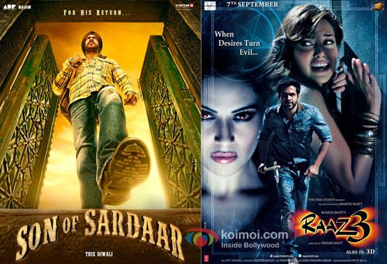 Son Of Sardaar and Raaz 3 Movie Posters