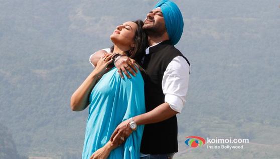 Sonakshi Sinha And Ajay Devgan In Son Of Sardaar Movie Stils