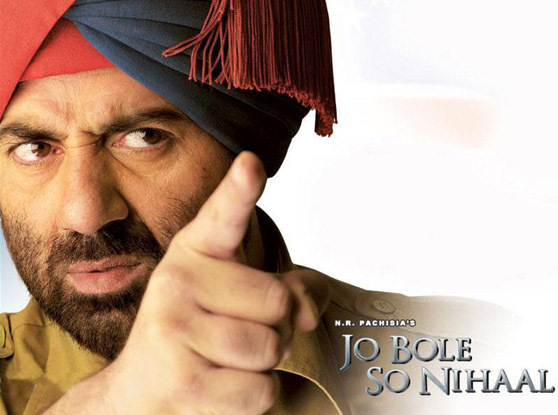 Sunny Deol in a still from Jo Bole So Nihaal Movie