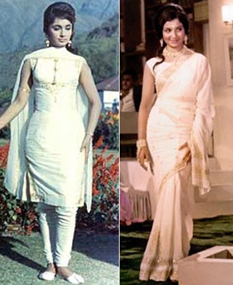 Sadhna and Sharmila Tagore in a still from Waqt Movie
