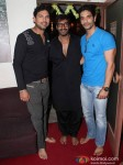 Yuvraj Singh, Ajay Devgn And Angad Bedi At Special Screening Of Son Of Sardaar