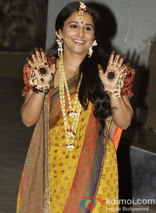 Vidya Balan's mehendi ceremony