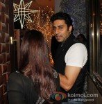 Aishwarya Rai Bachchan And Abhishek Bachchan at Sunny and Anu Dewan's Christmas Party in Mumbai