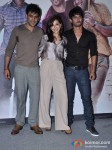 Amit Sadh, Amrita Puri And Sushant Singh Rajput at Film 'Kai Po Che' Trailer Launch