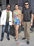 Amjad Khan,Sufi Sayyad And Chirag Patil at Godrej Eon Tour De India race Pic 1
