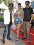Amjad Khan,Sufi Sayyad And Chirag Patil at Godrej Eon Tour De India race Pic 2
