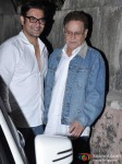Arbaaz Khan And Salim Khan at Dabangg 2 Special Screening