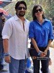 Arshad Warsi And Maria Goretti at Red Bull race