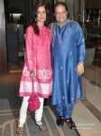 Bhajan singer Anup Jalota at Wedding Reception of Classical Singer Ustad Ghulam Mustafa Khan`s son Rabbani and Namrata at Hotel JW Marriott in Juhu Mumbai