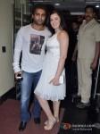 Bollywood actor Sachin Joshi with his actress wife Urvashi Sharma at the first look of film Mumbai Mirror in PVR Cinemas Juhu, Mumbai Pic 2