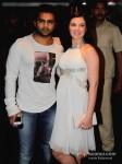 Bollywood actor Sachin Joshi with his actress wife Urvashi Sharma at the first look of film Mumbai Mirror in PVR Cinemas Juhu, Mumbai Pic 1