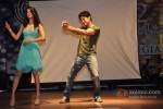Bollywood actors Tena Desai And Rajeev Khandelwal promote film Table No.21at Mithibai College Festival in Juhu Mumbai Pic 5