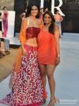 Bruna Abdullah walks for Shouger Merchant Doshi at India Resort Fashion Week 2012 Pic 3