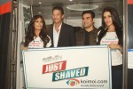 Chitrangada Singh, Mahesh Bhupathi, Arbaaz Khan, Neha Dhupia at a promotional event of ''Gillette'' inside Delhi Airport Metro Express in New Delhi Pic 1