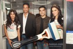 Chitrangada Singh, Mahesh Bhupathi, Arbaaz Khan, Neha Dhupia at a promotional event of ''Gillette'' inside Delhi Airport Metro Express in New Delhi Pic 2