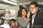 Chitrangada Singh and Mahesh Bhupathi at a promotional event of ''Gillette'' inside Delhi Airport Metro Express in New Delhi Pic 1