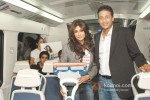 Chitrangada Singh and Mahesh Bhupathi at a promotional event of ''Gillette'' inside Delhi Airport Metro Express in New Delhi Pic 2