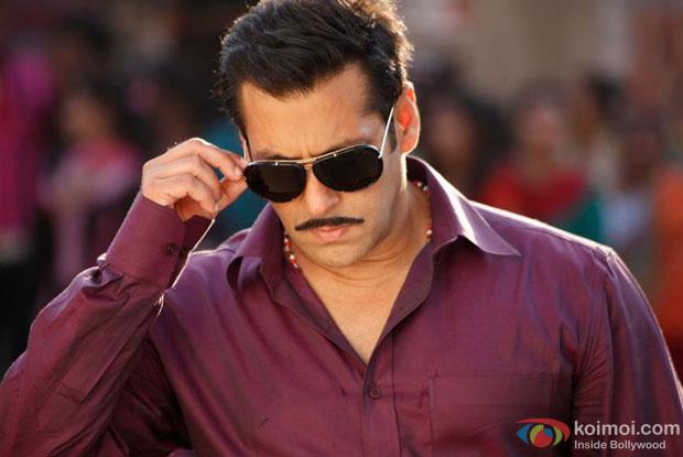 Salman Khan in a still from Dabangg 2 Movie