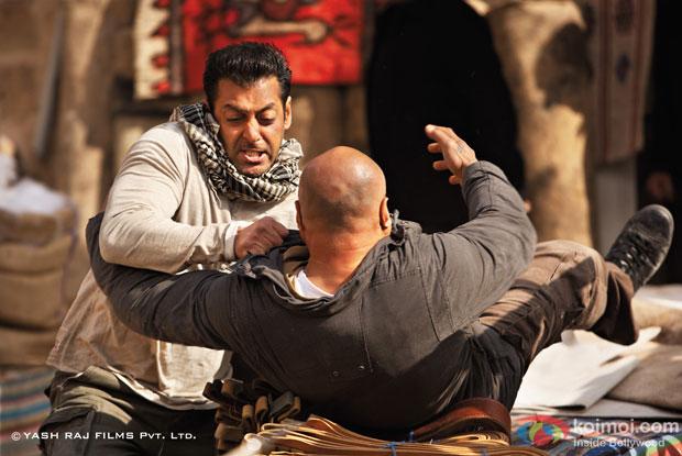 Salman Khan in a still from Ek Tha Tiger Movie