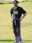 Farhan Akhtar at Aamby Valley Skydiving event Pic 4