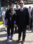 Farhan Akhtar at Aamby Valley Skydiving event Pic 1