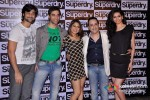 Hanif Hillal, Kushal Punjabi, Maninni De, Rhehan Malliek And Karishma Tanna at the launch of 'Superdry'