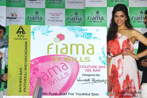 Deepika Padukone at ITC Fiama Di Wills Couture Spa Range Launch Event