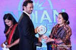 Bollywood actor Irrfan Khan and Sonal Mansingh at the CNN-IBN Indian of the Year 2012 awards in Delhi