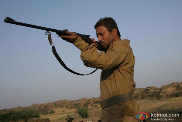 Irrfan Khan in a still from Paan Singh Tomar Movie