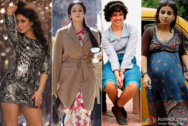 Kareena Kapoor (Heroine), Sridevi (English Vinglish), Priyanka Chopra (Barfi!), Vidya Balan (Kahaani)