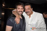Luv Sinha And Sanjay Dutt At Shatrughan Sinha's Dinner in Honour of Kokilaben Ambani Hospital Doctors Pic 1