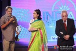 Goa Chief Minister Manohar Parrikar and Soli Sorabjee at the CNN-IBN Indian of the Year 2012 awards in Delhi