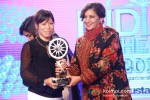 Bollywood actress Shabana Azmi and Indian boxer Mary Kom at the CNN-IBN Indian of the Year 2012 awards in Delhi