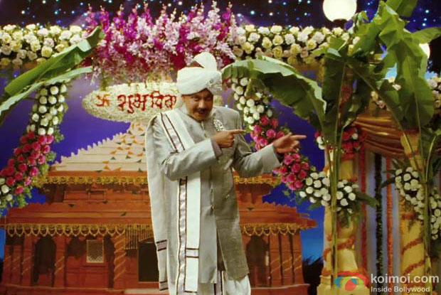 Mithun Chakraborty in a still from Housefull 2 Movie