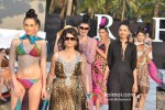 Model walks for Designer Fatima Khan's show atIndia Resort Fashion Week 2012 Pic 4