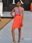 Model walks for Shouger Merchant Doshi at India Resort Fashion Week 2012 Pic 2