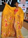 Model walks for Welspun at India Resort Fashion Week 2012 Pic 1