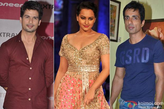 Shahid Kapoor, Sonakshi Sinha and Sonu Sood for Namak Movie