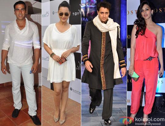 Akshay Kumar, Sonakshi Sinha, Imran Khan and Sonali Bendre for Once Upon a Time In Mumbaai Again Movie