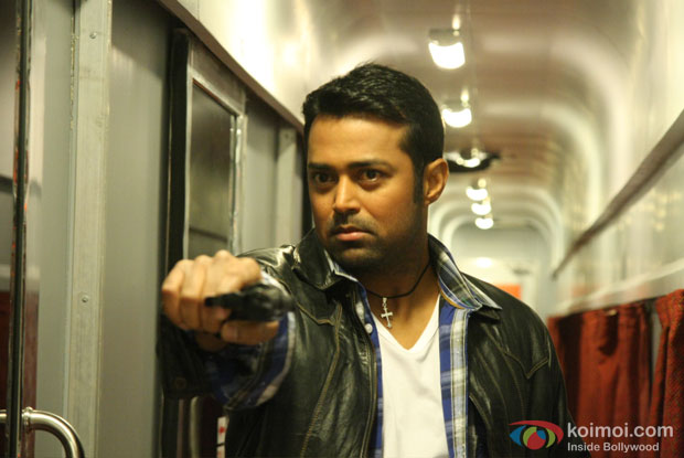 Leander Paes in a still from Rajdhani Express Movie
